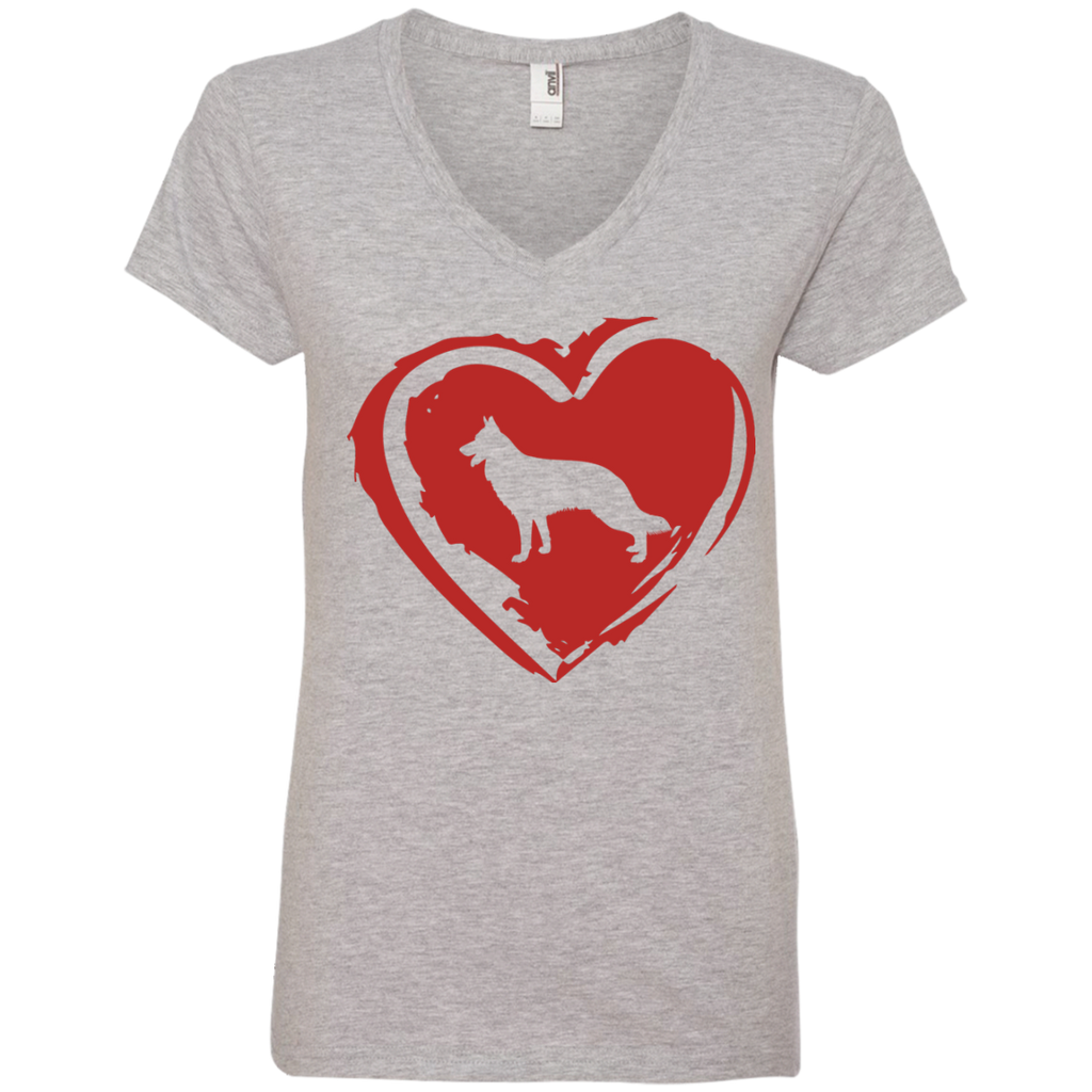 Love My GSD Ladies' V-Neck Tee