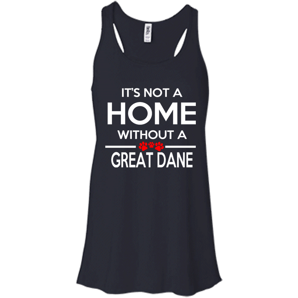 Its Not A Home Great Dane Bella+Canvas Flowy Racerback Tank