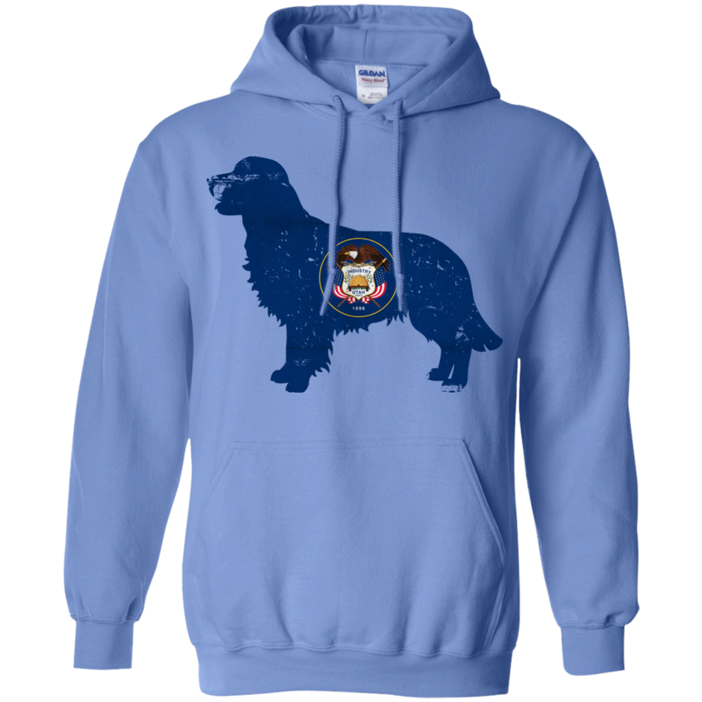 Golden Retriever Utah Flag Pullover Hoodie 8 oz.
