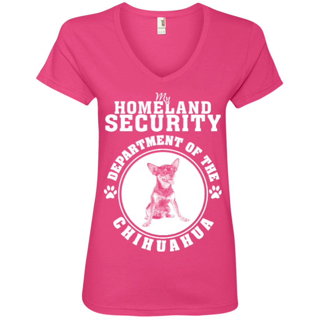 Chihuahua Security Ladies' V-Neck Tee