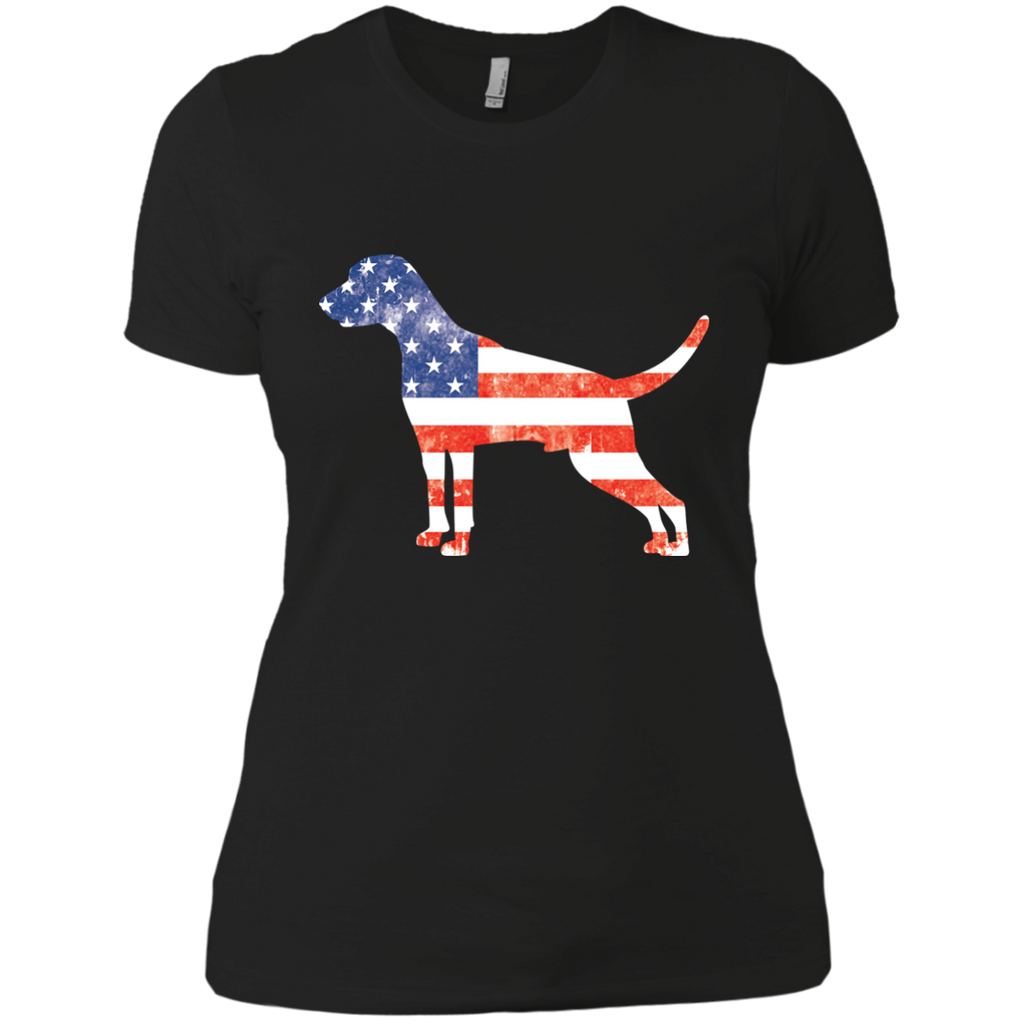 USA Weimaraner Fitted Tee