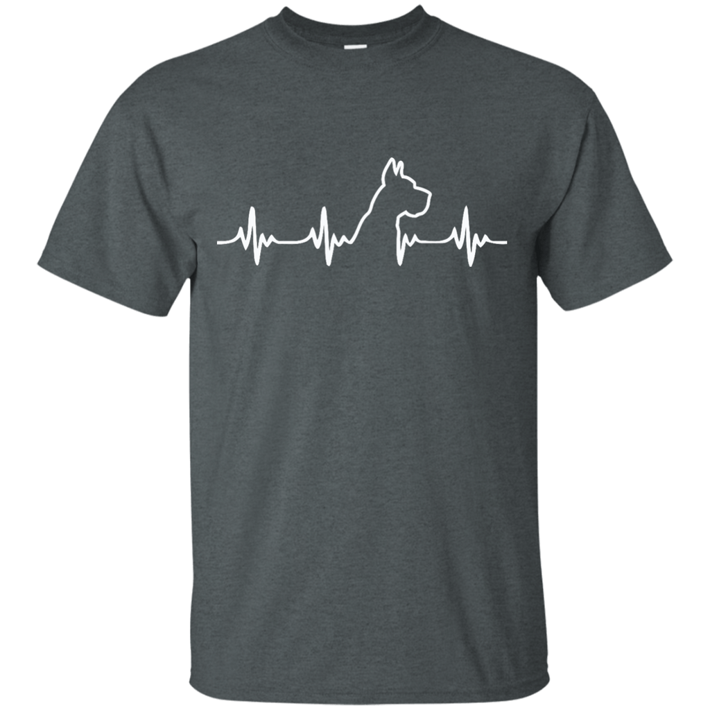 Great Dane Heart Beat Cropped Ultra Cotton T-Shirt