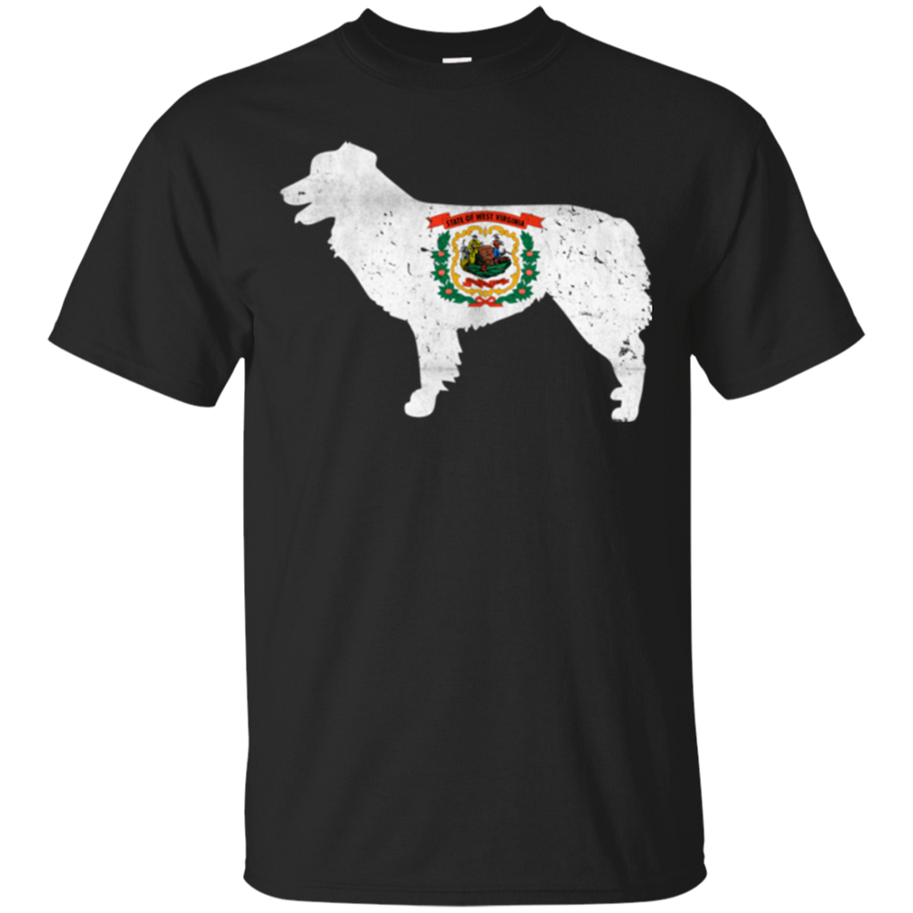 Border Collie West Virginia Flag Ultra Cotton T-Shirt
