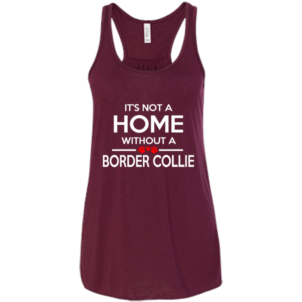 Not A Home Border Collie Racerback Tank