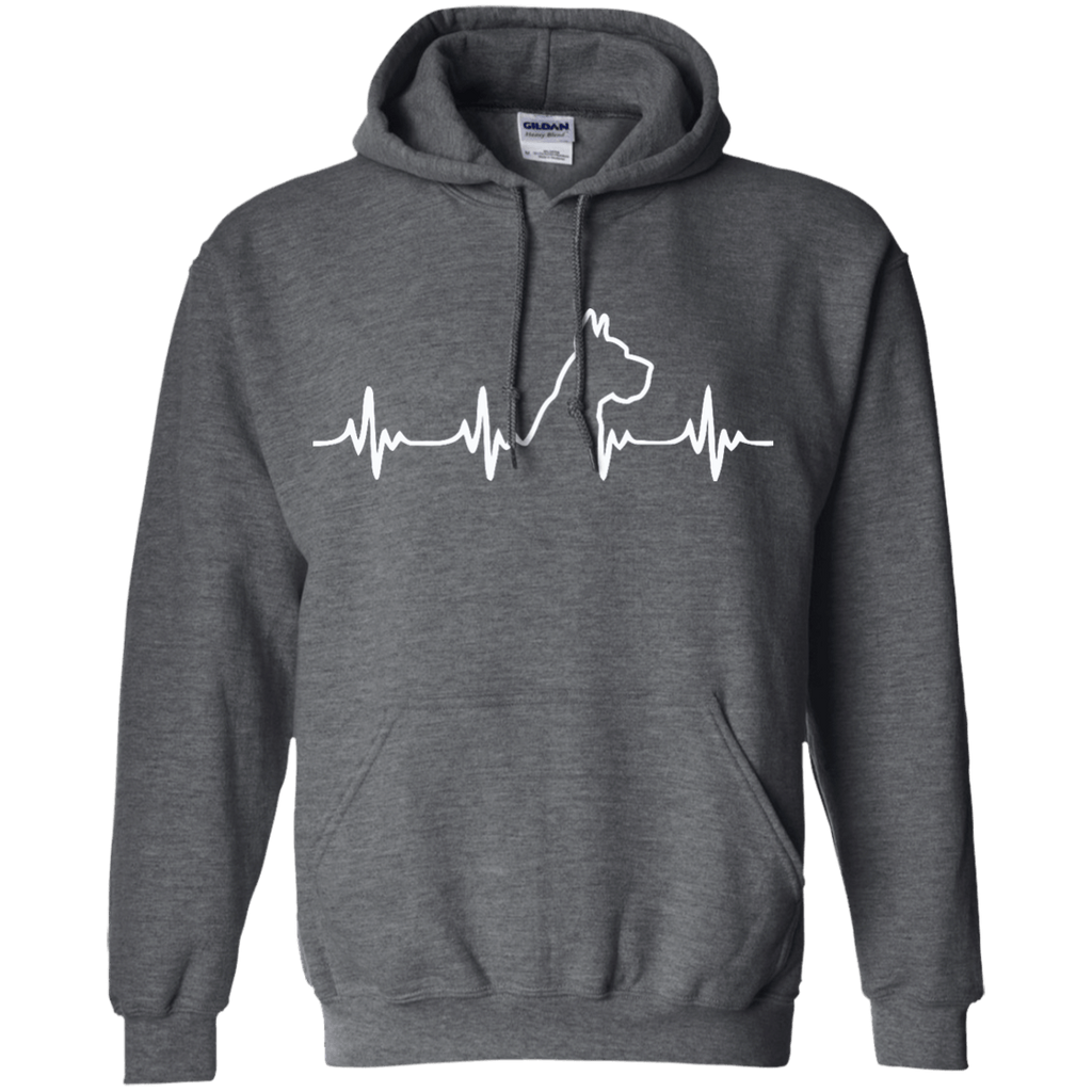 Great Dane Heart Beat Cropped Pullover Hoodie