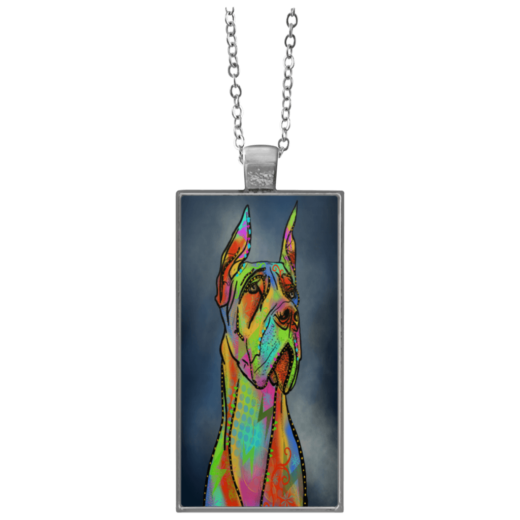 Great Dane Rectangle Necklace