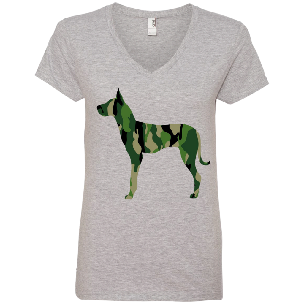 Camo Dane Ladies' V-Neck Tee