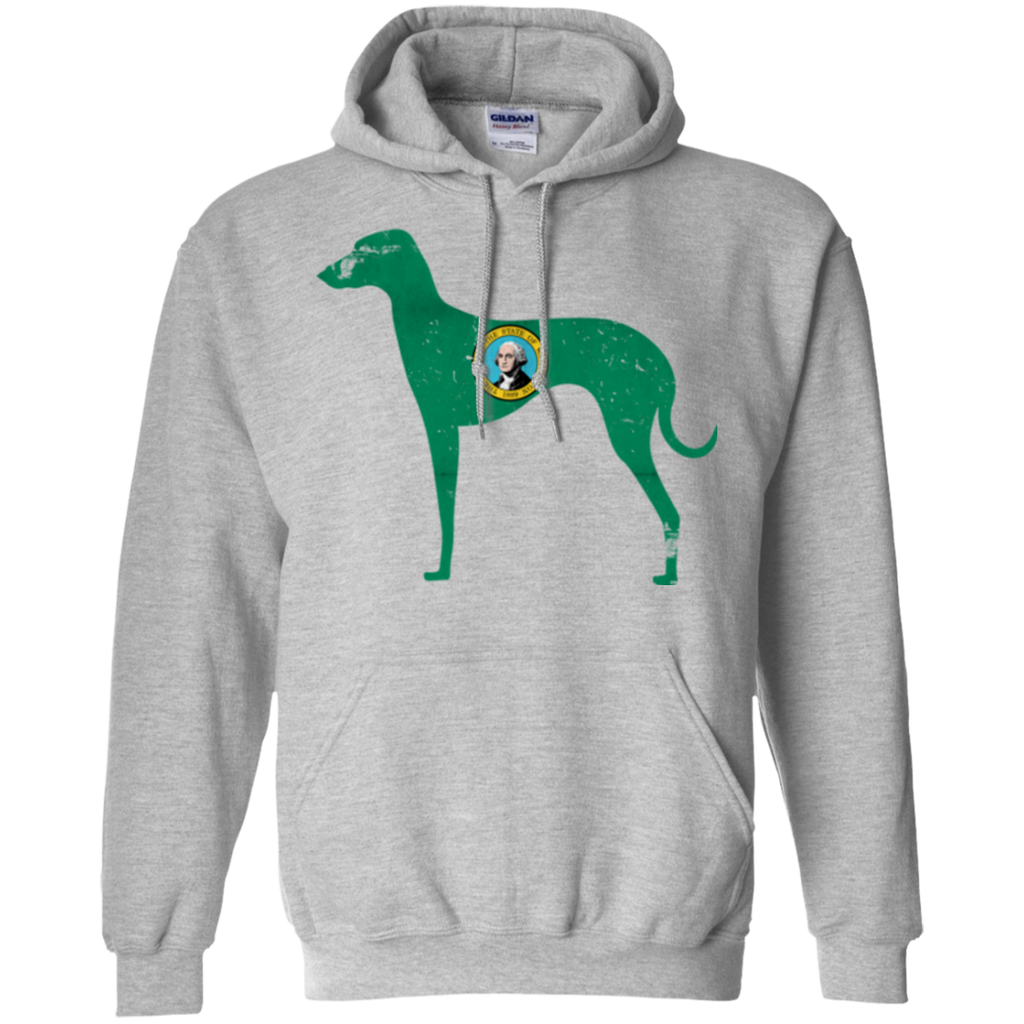 Greyhound Washington Flag Pullover Hoodie 8 oz.