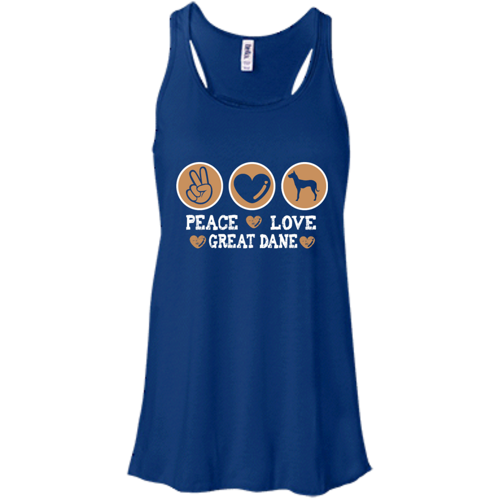 Peace Love Dane Racerback Tank