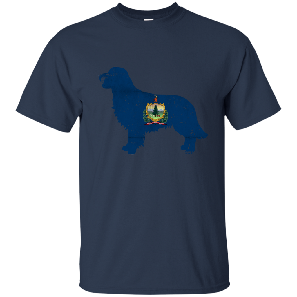 Golden Retriever Vermont Flag Ultra Cotton T-Shirt