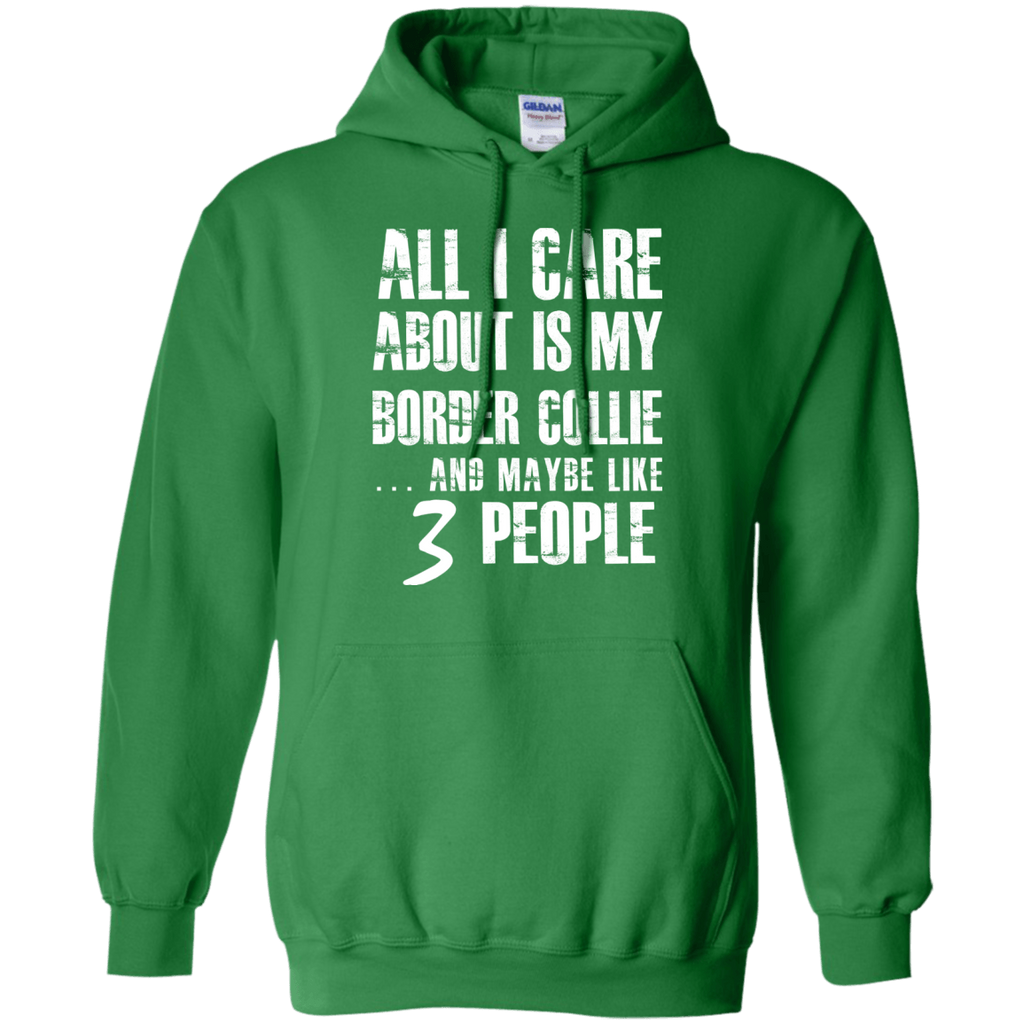 Border Collie 3 People Pullover Hoodie