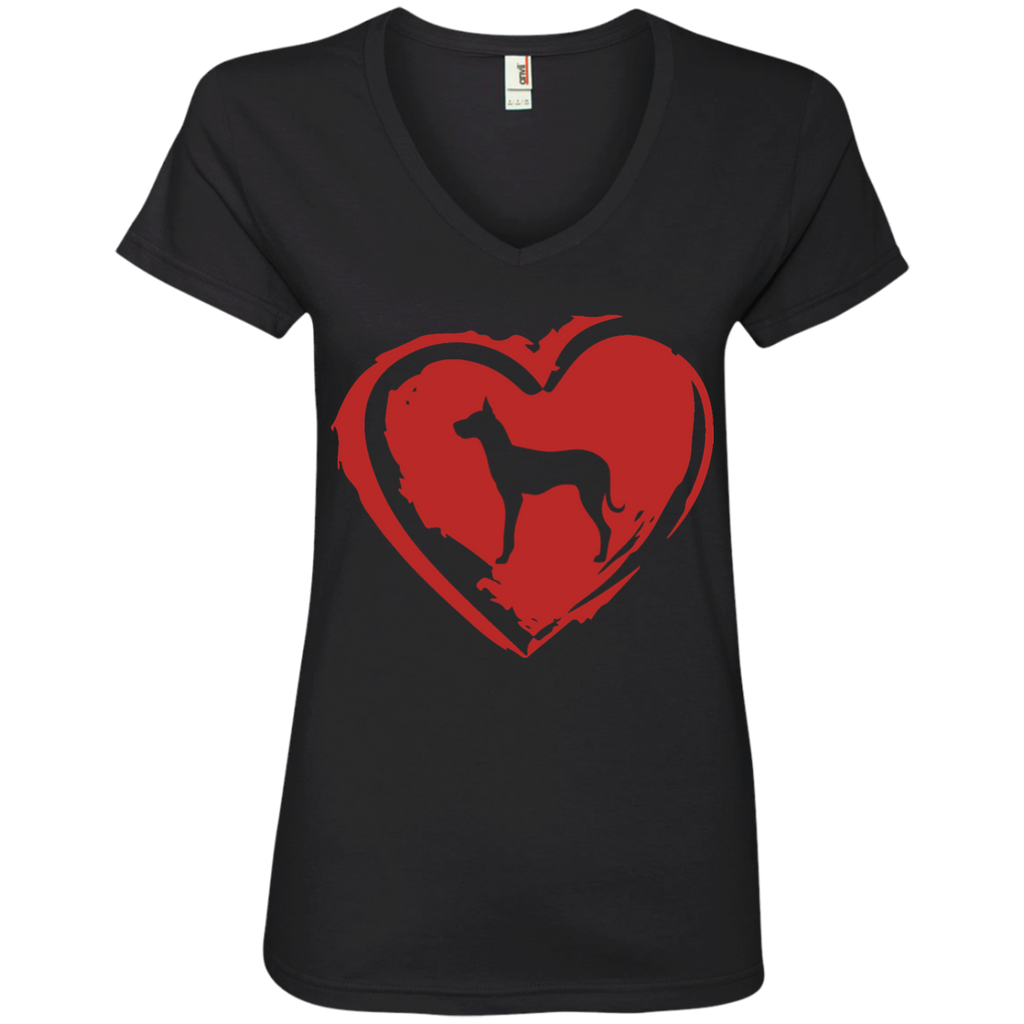 Love My Great Dane Ladies' V-Neck Tee