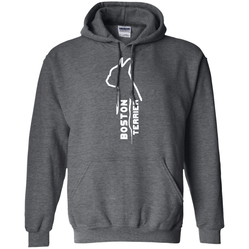 Boston Terrier Sideways Pullover Hoodie