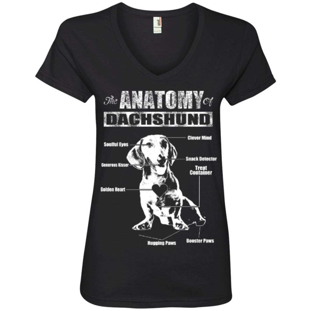 Dachshund Anatomy Ladies' V-Neck Tee