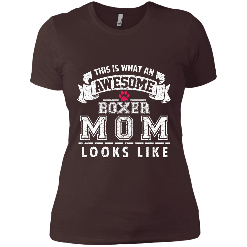 Awesome Boxer Mom Fitted Tee
