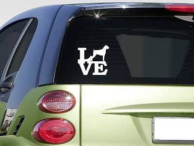 "Boxer Love 6"" Sticker Decal Bully Bulldog Ear Crop Uncrop Bullenbeiser"
