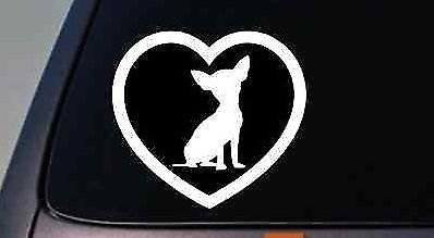 Chihuahua Heart Sticker Decal Laptop Dog Window Rescue Mexican Taco Bell
