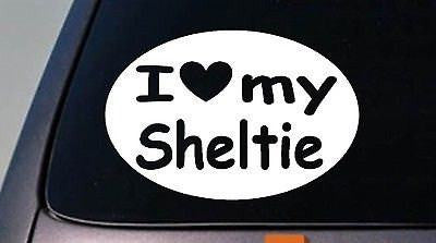 "I Love My Sheltie Shetland Sheepdog Truck Window 6"" Sticker Decal"