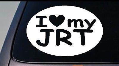 "I Love My Jrt Jack Russell Sticker Parson Truck Window 6"" Sticker Decal"