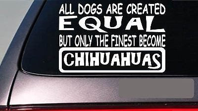 My Heart Belongs To A Chihuahua Sticker Decal