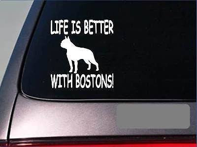Life Is Better With Boston Terriers Sticker Decal Boston Bulldog