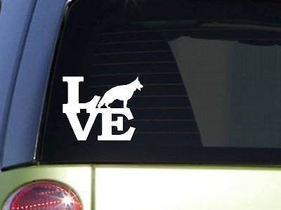 "German Shepherd Love 6"" Sticker Decal Gsd Rescue Dog German Schutzhund"