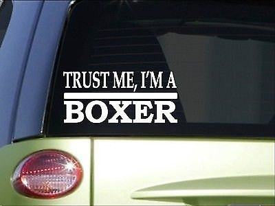 Trust Me Boxer 8 Inch Sticker Decal Boxing Gloves Shorts Ring Tape