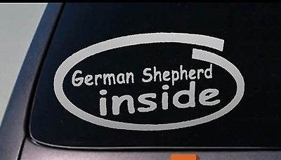German Shepherd Decal Sticker Car Window 6""
