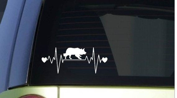 "Border Collie heartbeat lifeline 8"" wide Sticker decal"