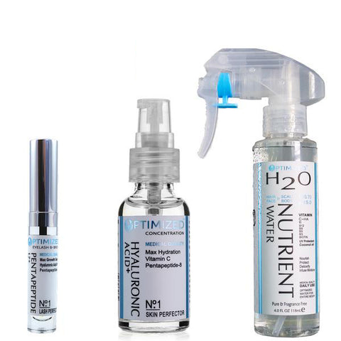 OPTIMIZED Anti Aging 3 Pack Skin, Hair & Lash System