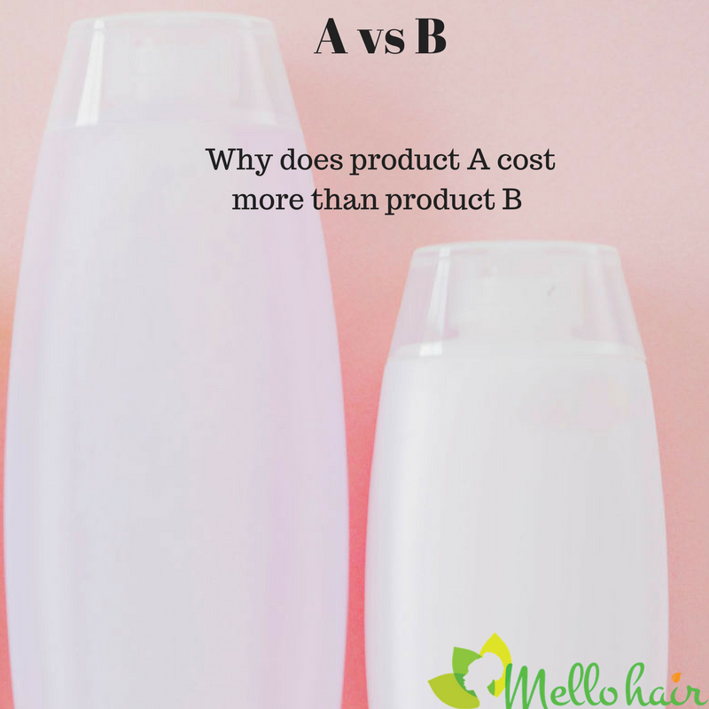 #1 Reason why product A cost more than product B: Natural Hair Product Insider