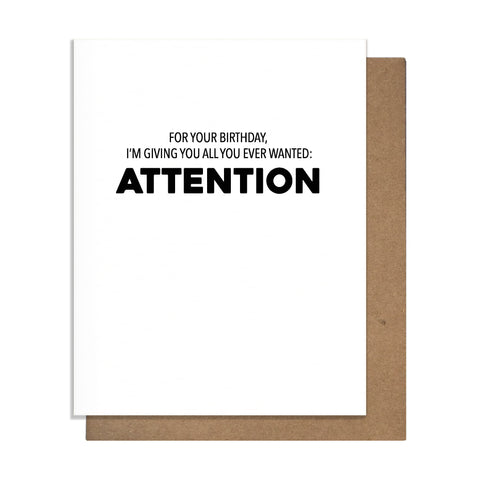 Attention Card,  Greeting Card, handmade, american made - The Matt Butler