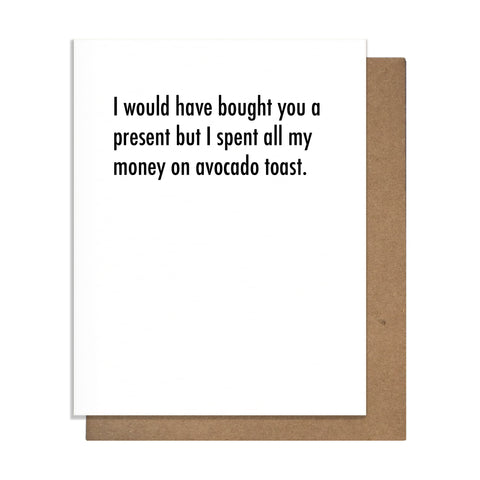Avocado Toast Birthday Card,  Greeting Card, handmade, american made - The Matt Butler