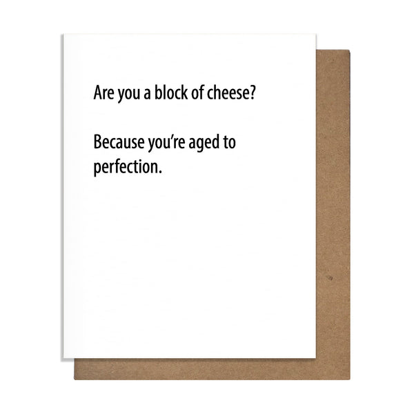 Block of Cheese Card,  Greeting Card, handmade, american made - The Matt Butler