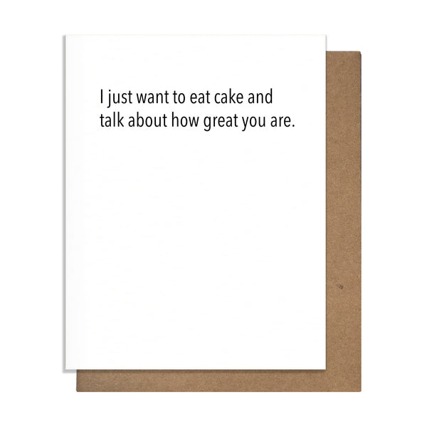 Cake & Great Birthday Card,  Greeting Card, handmade, american made - The Matt Butler