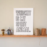 Whiskey Spirit Print,  Prints, handmade, american made - The Matt Butler