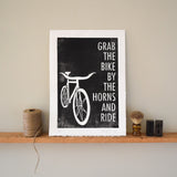 Grab the Bike Print,  Prints, handmade, american made - The Matt Butler