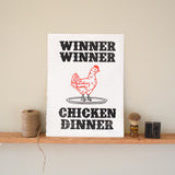 Winner Winner Chicken Dinner Print,  Prints, handmade, american made - The Matt Butler