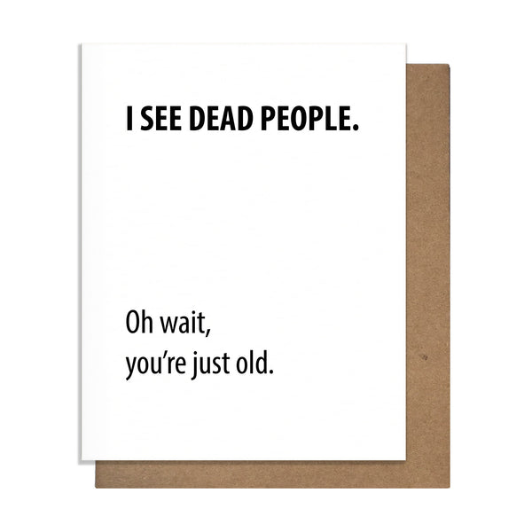 Dead People Birthday Card,  Greeting Card, handmade, american made - The Matt Butler