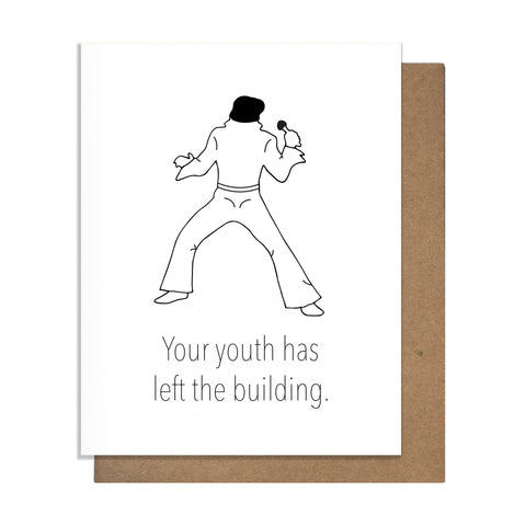 Elvis Birthday Card,  Greeting Card, handmade, american made - The Matt Butler