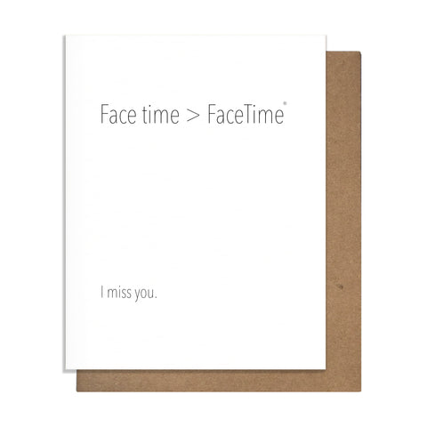 Face Time Card,  Greeting Card, handmade, american made - The Matt Butler