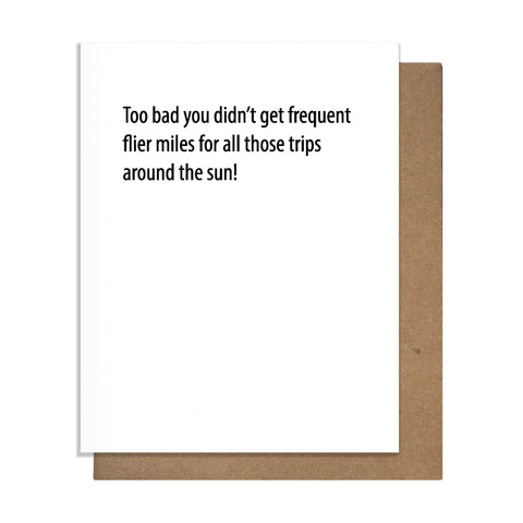 Frequent Flier Card,  Greeting Card, handmade, american made - The Matt Butler