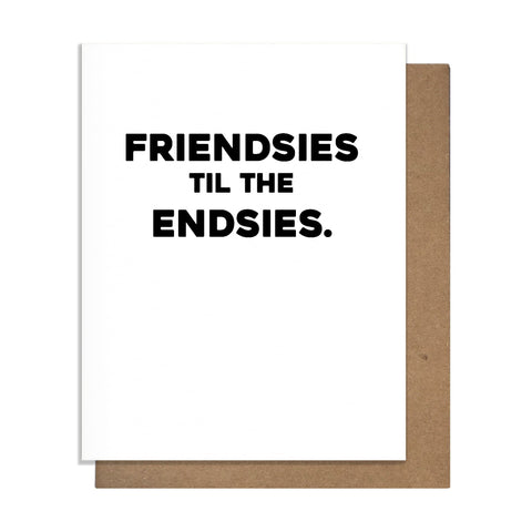 Friendsies Card,  Greeting Card, handmade, american made - The Matt Butler