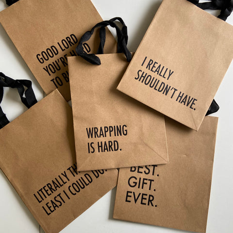 Imperfect Gift Bag 5 Pack,  Gift & Wine Bag, handmade, american made - The Matt Butler