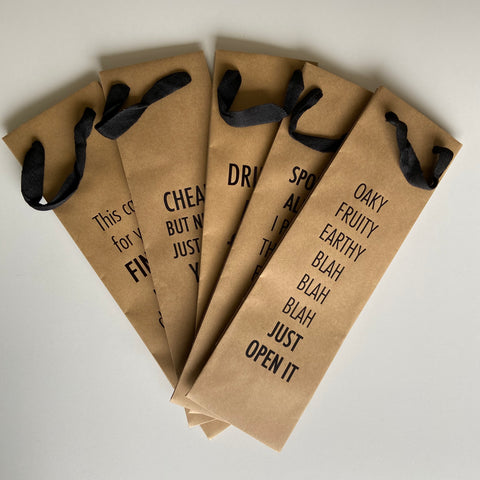 Imperfect Wine Bag 5 Pack,  Gift & Wine Bag, handmade, american made - The Matt Butler