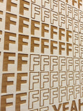 F Yeah Lasercut Wall Art,  , handmade, american made - The Matt Butler