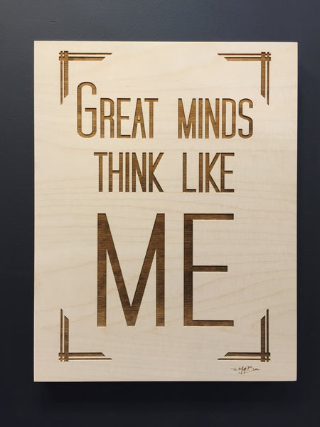 Great Minds Lasercut Wall Art,   - The Matt Butler