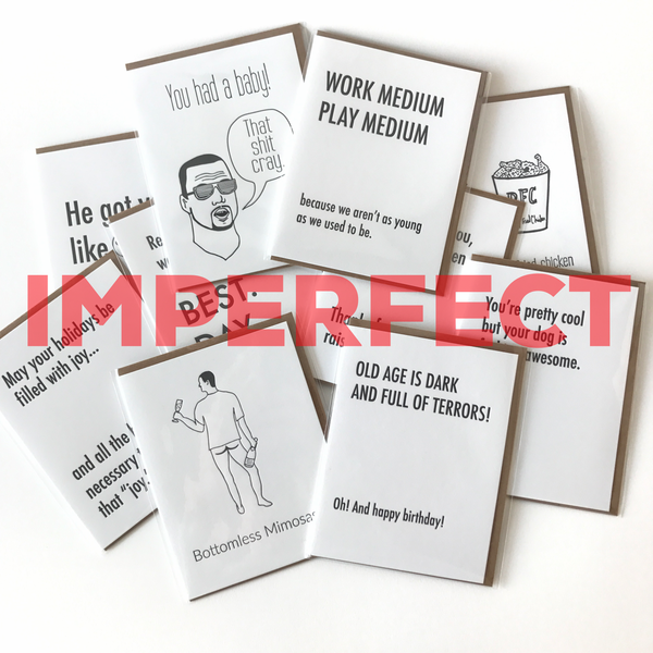 Imperfect Card 10 Pack,  Greeting Card, handmade, american made - The Matt Butler