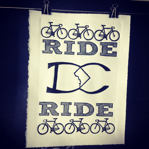 Ride DC Ride,  Prints, handmade, american made - The Matt Butler