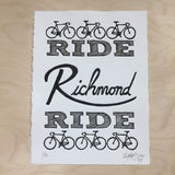 richmond bike art print